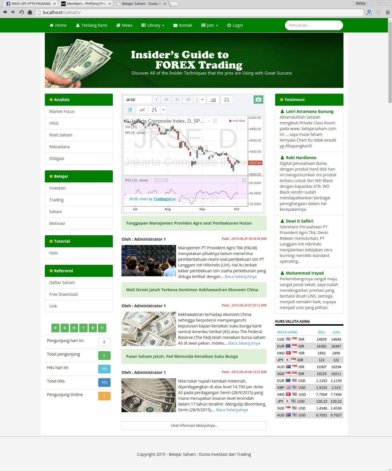 Aplikasi Komunitas (Jejaring Sosial) Belajar Trading Forex V.1